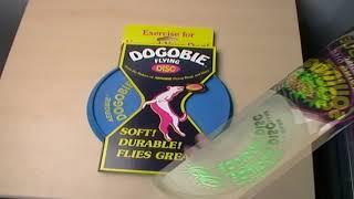 Aerobie Squidgie Flexible Frisbee Flying Squidgy Disc + Dogobie Disc close look