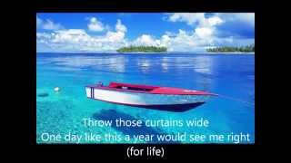 Elbow - One Day Like This  (Lyrics)
