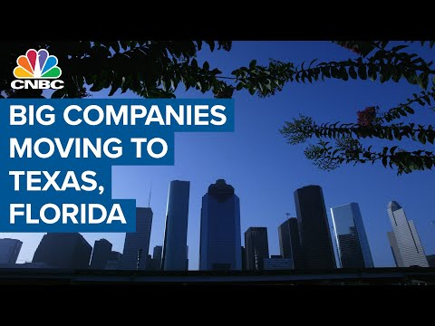 Big companies moving from New York and California to Texas and Florida