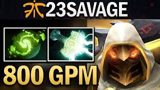 FNATIC.23SAVAGE JUGGERNAUT WITH 800 GPM - DOTA 2 GAMEPLAY