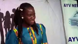A blind contestant audition for the big brother Salone show 2019