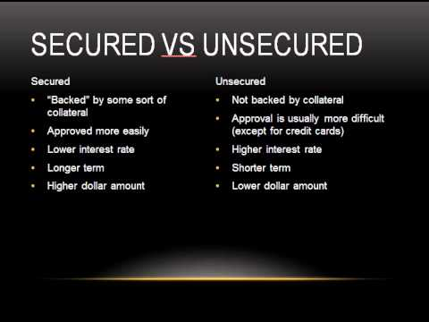 Difference Between Secured and Unsecured Loans - YouTube