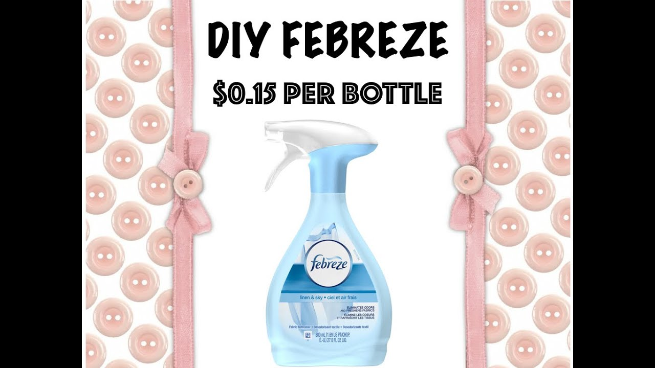 2 MINUTE DIY: Homemade FEBREZE - YouTube