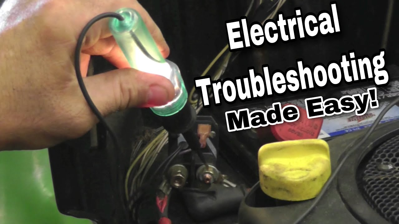 How To Troubleshoot Basic Electrical Problems On A Riding Mower 22 Hp Kohler Charging Wiring Diagram Schematic With Taryl Youtube