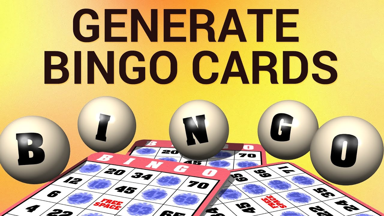 How to generate bingo cards youtube how to generate bingo cards solutioingenieria Images