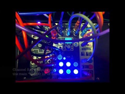 Make Noise TEMPI + Sputnik Modular SELECTOR = FUN DRUMS!