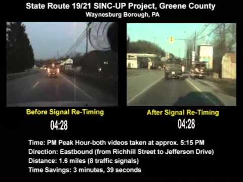 State Route 19/21 SINC-UP Project (Greene County) PM Peak Eastbound