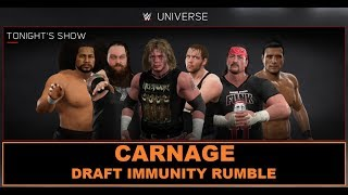 WWE 2K17 - SWE Universe Mode - Episode 104 - Carnage Draft Immunity Rumble