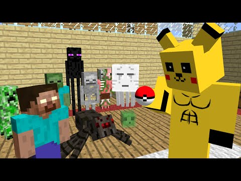 Monster School : Pokemon Go - Minecraft Animation
