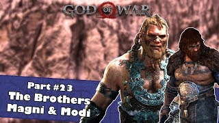 The Brothers Magni and Modi | Let's Play God of War 4 (2018) Part #23 | Magni and Modi Boss Fight