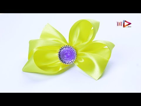 Very Easy And Pretty Hair Bow | Satin Ribbon Headband | Fabric Decorative Hair Accessories