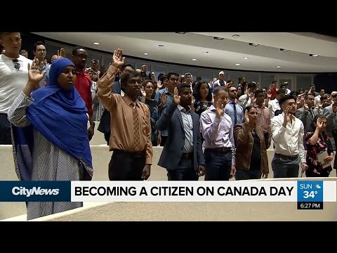 New Canadian citizens sworn in on Canada Day