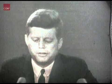 John Fitzgerald Kennedy Speaking to America during the Cuban Missile Crisis