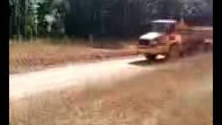 insane dump truck jump