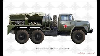 ARS-14 ZIL-131 ABC Abwehr suv dispensing stantsiyasi NBC davolash