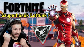 SZUPERHŐSÖK LETTÜNK a FORTNITEban Levivel ! | Fortnite Friday !