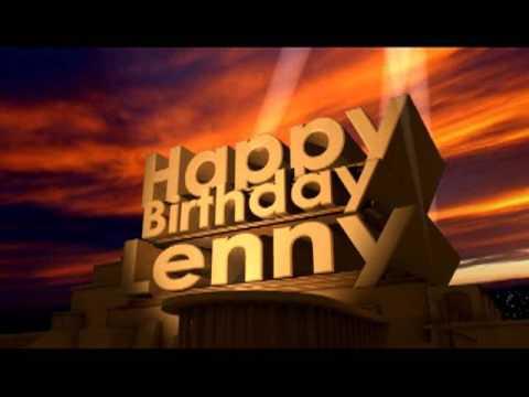 Happy Birthday Lenny Youtube