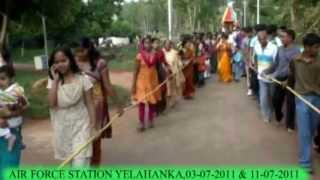 RATH YATRA AT AIR FORCE STATION YELAHANKA,KARNATAKA,INDIA ON( 03-07-2011)AND (11- 07 -2011)