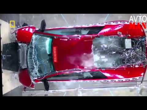 crazy crash test supercars lamborghini, honda, range rover, - youtube