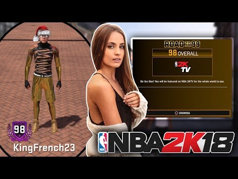 NBA 2K18 98 OVERALL LIVE REACTION • 2KTV RACHEL DEMITA REWARD • ROAD TO 99 OVERALL LEGEND MASCOTS