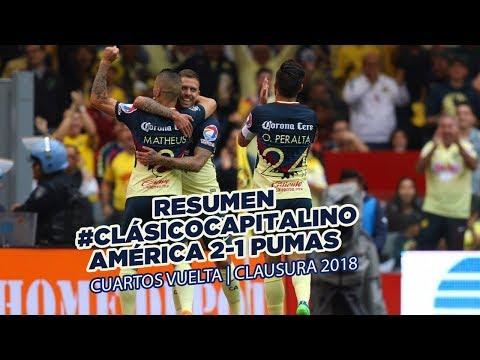 Resumen: Todos los goles Club América (6) 2-1 (2) Pumas | 4tos Liguilla | CL18