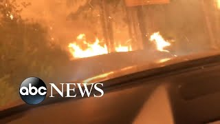 Family narrowly escape deadly wildfire in Montana