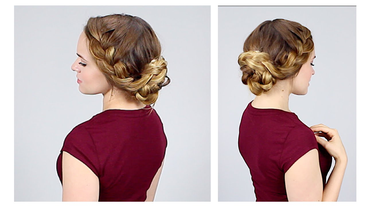 Quick Braided Updo for Back to School - YouTube