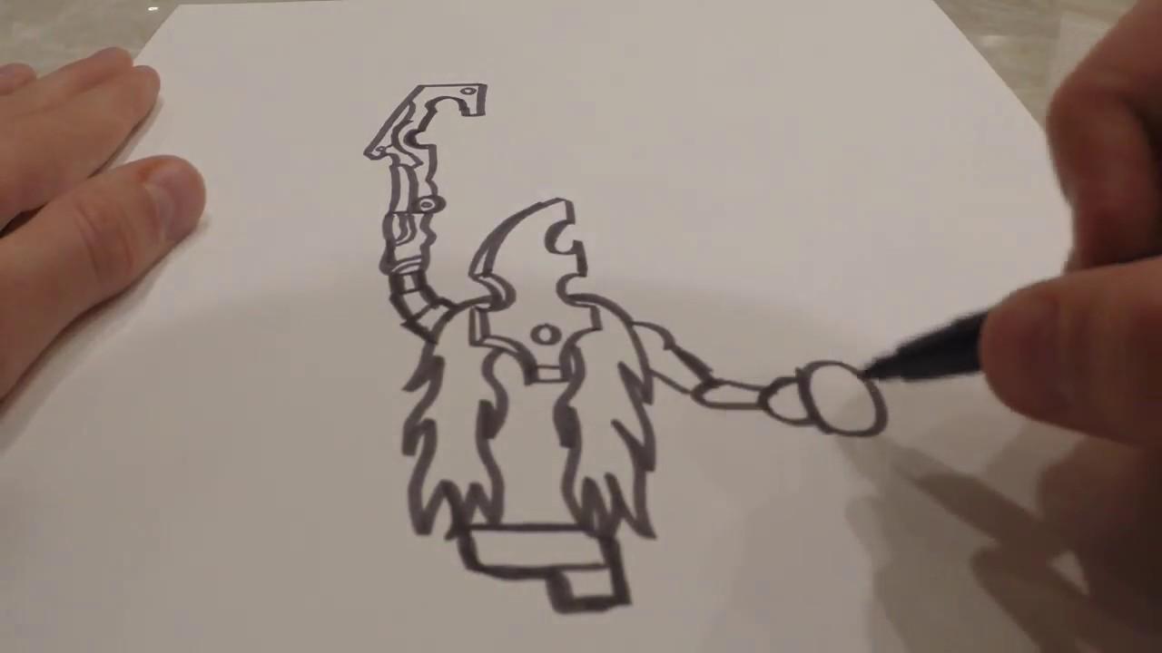 How To Draw Thunderblight Ganon Zelda Botw