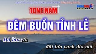 Đêm Buồn Tỉnh Lẻ Karaoke Nhạc Sống Rumba | Tone Nam | Hoàng Dũng Karaoke