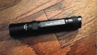 Fenix flashlights long term use question.  Caution flickering / strobe light in video