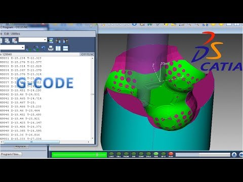 Advanced programming tutorial   Catia surface machining #3   Vericut simulation thumbnail