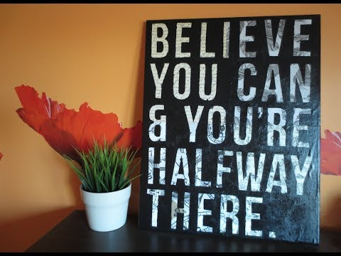 Diy easy canvas art custom quote on canvas room decor for Room decor ideas quotes