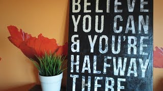 DIY: Easy Canvas Art - Custom Quote on Canvas (Room Decor) Thumbnail