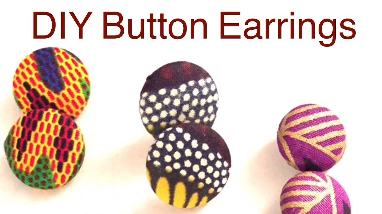 fabric earrings Fabric button earrings African fabric earrings button earrings African print earrings stud earrings