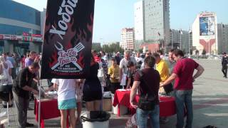 Барбекю в честь кубка Губернатора хоккейная арена трактор