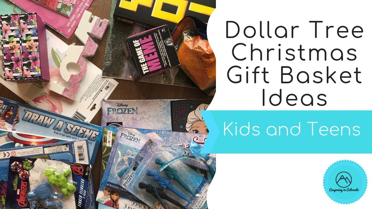 Christmas Gift Baskets For Kids.Dollar Tree Christmas Gift Basket Ideas Kids Teens