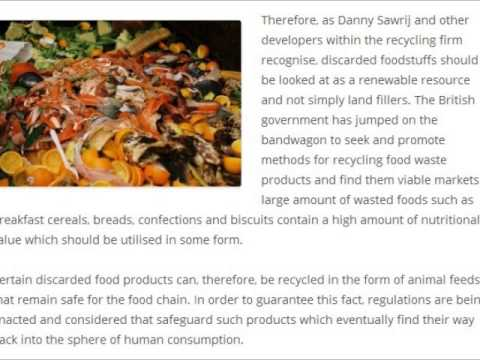 Danny Sawrij l Challenge of Making Animal Feed from Recycled Food Waste