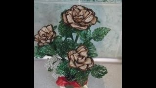Роза из бисера Урок №1(Плетем розу из бисера., 2015-04-10T14:42:29.000Z)