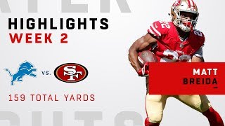 Matt Breida's Big Game w/ 159 Total Yards!
