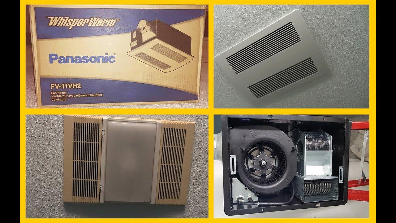 Bath Fan with Heater. Installation. Установка вытяжки в ...