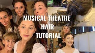 MUSICAL THEATRE HAIR TUTORIAL | WIG PREP & WIG DRESSING FOR A SHOW  | Georgie Ashford