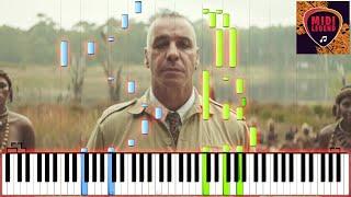 Rammstein  Ausländer  Piano Tutorial