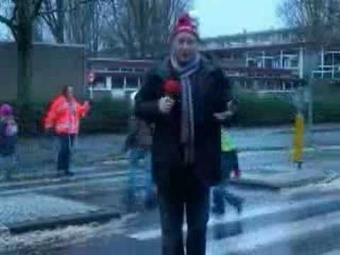 Weather Man Gets Knocked Down