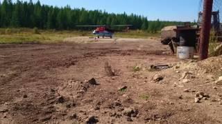 Ми-8 Взлет груженого вертолета