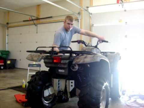 Yamaha Grizzly 660 With Hmf Utility Exhaust Youtube