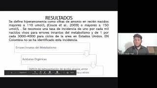 """PÓSTER """"Prueba de Hiperamonemia Neonatal en Colombia, una necesidad"""""""