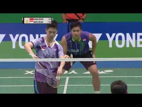 Yonex Sunrise Indonesian Masters 2016 | Badminton F M5-MD | Han/Zhou vs Arya/Suk