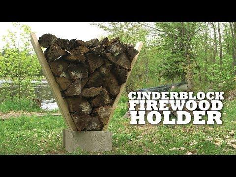 DIY Cinder Block Firewood Holder