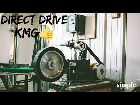 Converting my KMG 2X72 belt grinder to direct drive. Why didn't I do this sooner??