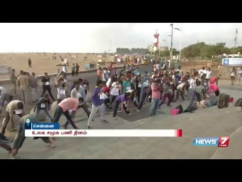 World social work day marathon conducted at Chennai | News7 Tamil